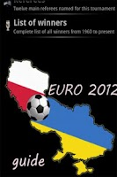 Screenshot of Euro 2012 Guide