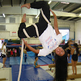 Saki hanging around Hawaii Academy of Gymnastics and Trampoline