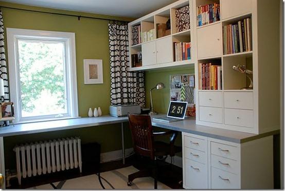 short draperies in office from rambling renovators