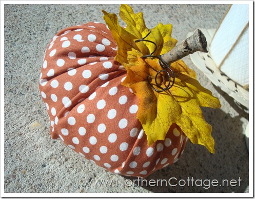 fabric pumpkin@NorthernCottage.net