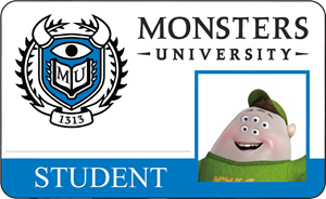 Scott (Squishy) Squibbles Monsters University Student Identification Card
