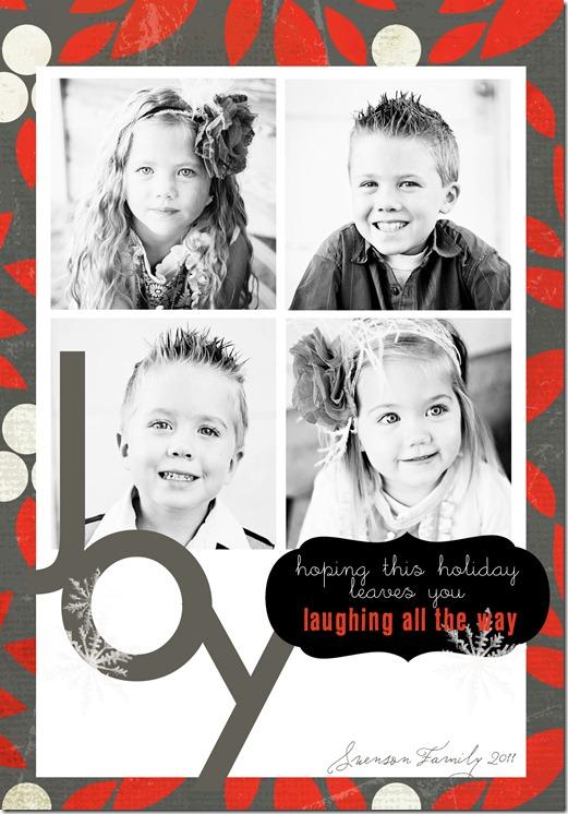 Christmas Card 2011 back