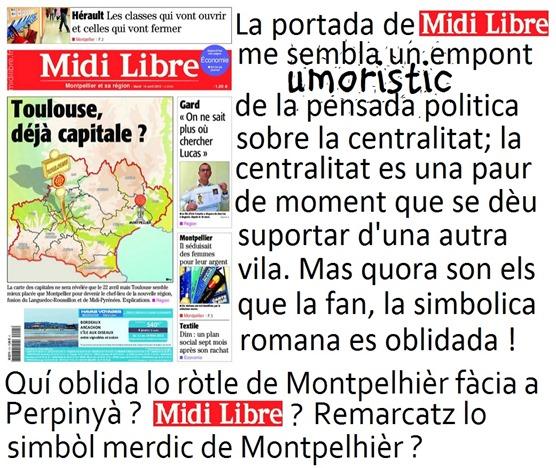 midi libre en portada MontpelhièrTolosa Perpinyà