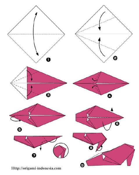 Langkah-langkah Membuat Origami Sepatu