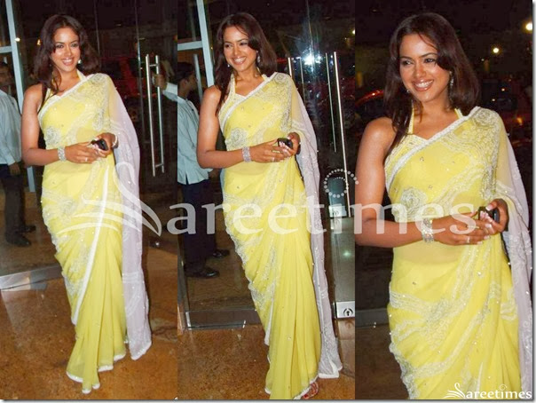 Sameera_Reddy_Yellow_Saree