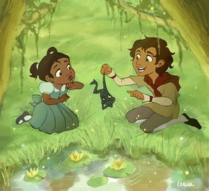 Princess-Tiana-and-Naveen-little-disney-princesses-tiana-criança