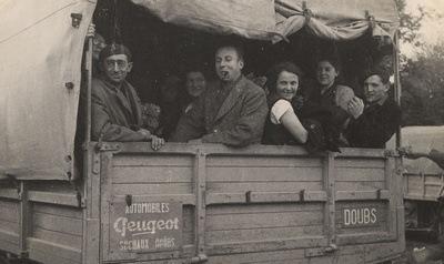 Ramassage des ouvriers de Peugeot Sochaux en 1946