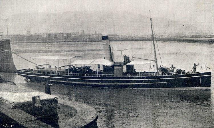 El remolcador GIRALDA. Revista VIDA MARITIMA Año 1. Núm. 1. Edición de 10 de Enero de 1902.JPG
