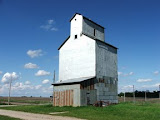 """Grain Elevator along Spine Line railroad tracks, near Waterloo, Iowa"" - copyright Paul August"