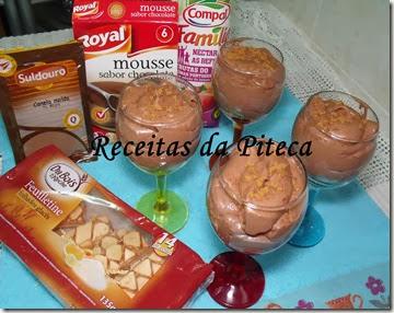 Doce de mousse de chocolate e frutas do pomar Português- Parcerias