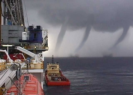 Hurricane Lili Waterspouts
