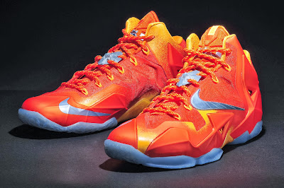 nike lebron 11 gr atomic orange 4 14 forging iron New Look at Forging Iron LeBron XI and Its Sick Packaging!