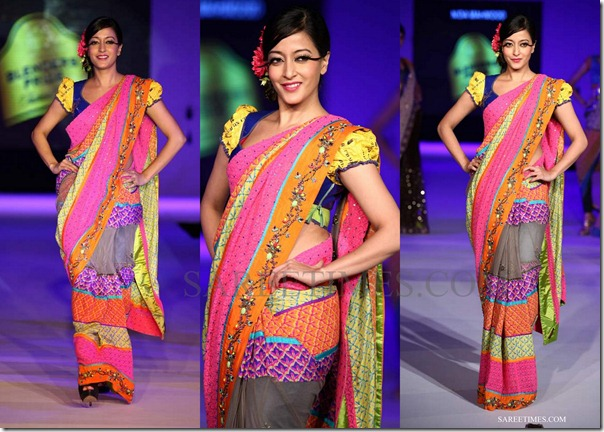 raima sen nida mahmood_multicolor_saree