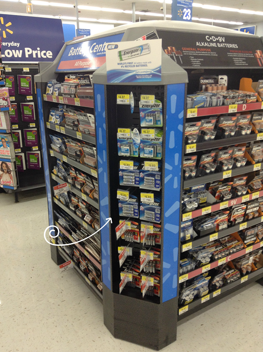 new recycled batteries from Energizer at Walmart