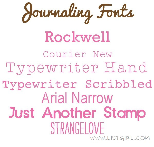 JournalingFonts