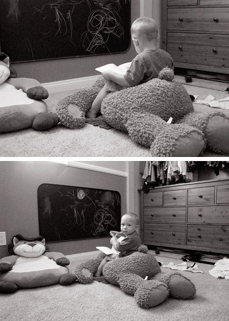 Karsten Reads on Big Bear Collage