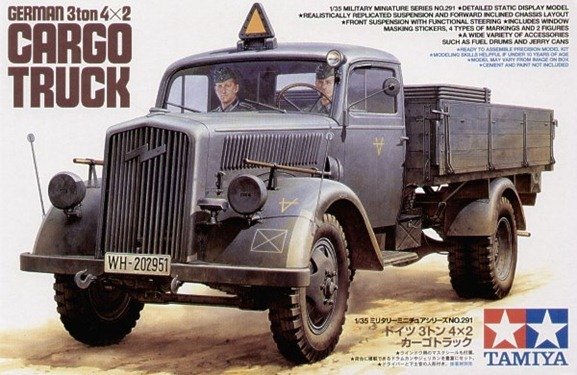 Camiones RC German 3Ton 4x2 Cargo Trk