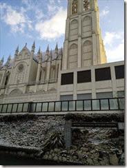 お城の式場も雪化粧 (1)