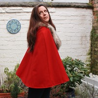 Su Sews SoSo Red Cape-2