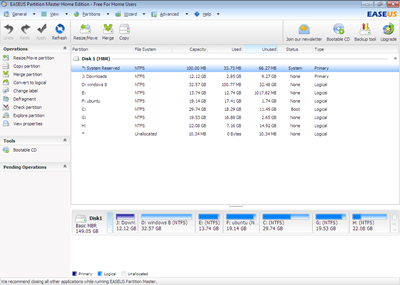 EASEUS Partition Master 9 Home Edition & Fitur Partition-Merge