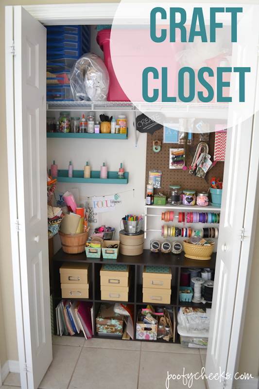 Craft Closet Organization and Reveal