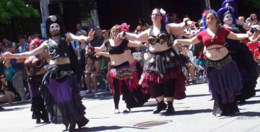 Pride belly dancers