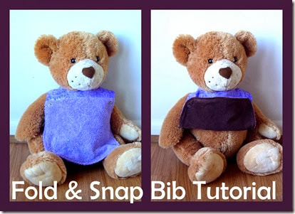 Fold and Snap bib tutorial at What I Live For