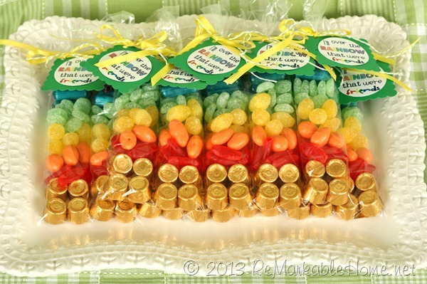 Brighten a Friend's Day!…St. Patrick's Day Rainbow Candy Bags {ReMarkableHome.net}