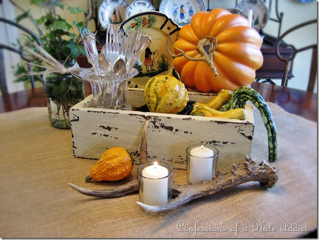 CONFESSIONS OF A PLATE ADDICT Rustic Fall Centerpiece