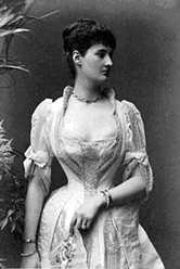 Corsetted Victorian woman