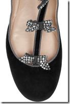 Chloé Embellished Suede T-bar Ballerina Flats 4