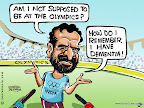 Olympics begins at London today, while an Indian court has refused to let Kalmadi represent India at the Olympics!