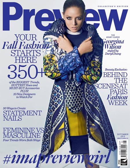 Georgina Wilson covers Preview Sept 2013