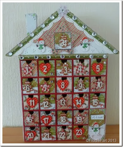 Advent House. Wooden. tesco