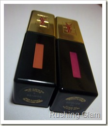 YSL Glossy Stain No. 6 and No. 14 (2)