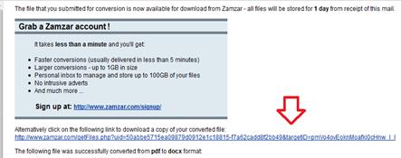 zamzar convert pdf to doc