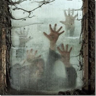 zombies-at-window, ZOMBIES, muertos vivientes, come cerebros