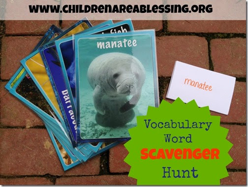 Vocabulary Word Scavenger Hunt from Children are a Blessing