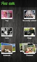 Screenshot of Pets talk
