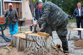 Жители ужгорода с лопатами защищают придомовую территорию от застройки 1.JPG