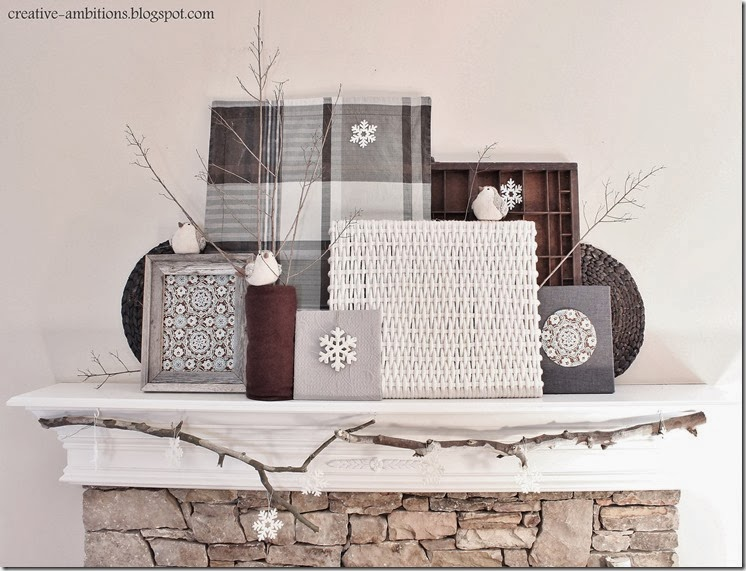 Winter Mantel (front view)