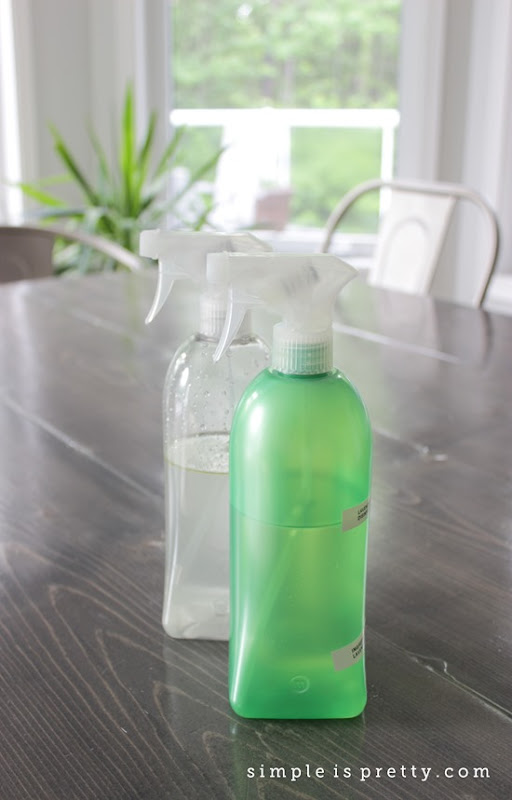 My first 2 cleaners from The Organically Clean Home Book