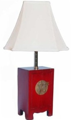 chinese wedding cabinet red lamp