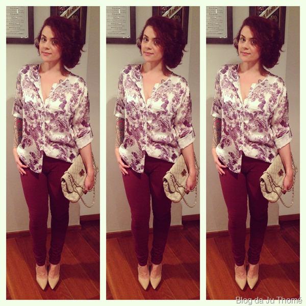 look calça burgundy e camisa floral (2)