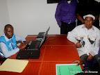 – A droite, Etienne Tshisekedi dépose sa candidature pour la présidentielle 2011, le 5/09/2011 au bureau de réception, traitement des candidatures et accréditation des témoins et observateurs de la Ceni à Kinshasa. Radio Okapi/ Ph. John Bompengo