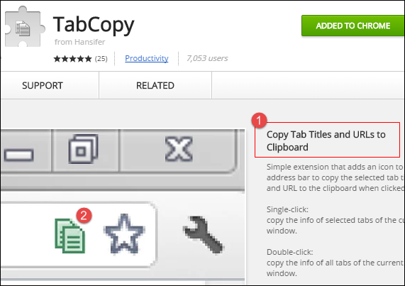TabCopy Extension
