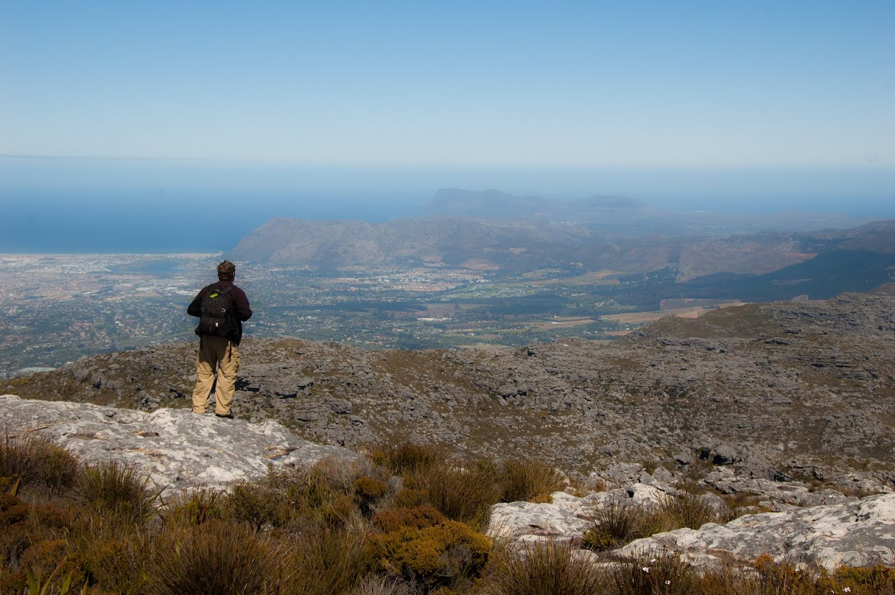 Patrick standing at the top of Table Mountain