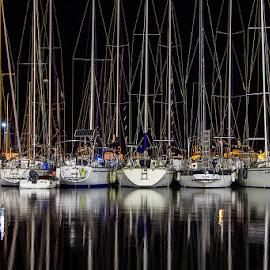 Rest by Vesna Holjevac - Transportation Boats ( port, harbour, boats, night, boat )