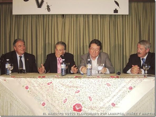EL MAESTRO OSTOS FLANQUEADO POR LAMARCA, NUÑEZ Y MARTIN