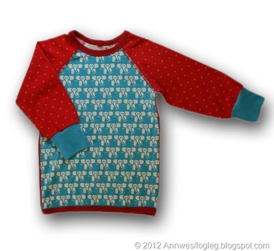 Genser, mønster fra Heilt Spesiell og Jubel sy glade klær til glade barn av Kristin Thorsnes og Ane Sund